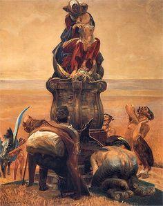 Triptychon: Follow the Stream (central part)  - Jacek Malczewski  1909