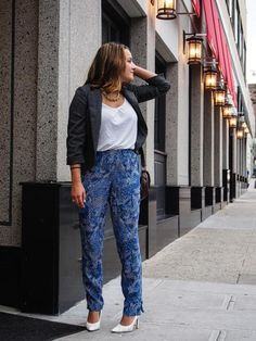 Styling in silk pants
