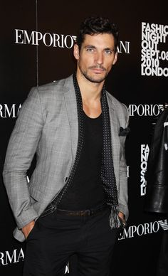 new arrival 9574b 577cd David Gandy in Fashion s Night Out At Armani - Arrivals. Men DressBlack ...