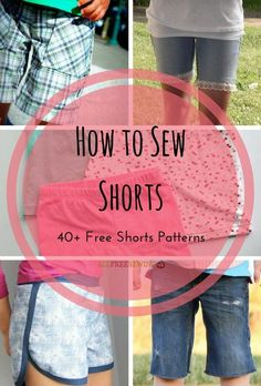 How to Sew Shorts: 40+ Free Shorts Patterns | Summer's almost here! Get ready for warmer weather with these DIY shorts.