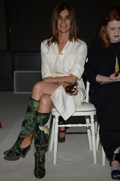 Carine Roitfeld at front row Giambattista Valli Fall 2014 Couture Collection #fall2014couture #GiambattistaValli