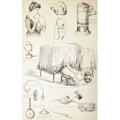 19Th Century Nursery Appliances From The Household Physician Published Circa 1890 Canvas Art - Ken Welsh Design Pics (11 x 18)