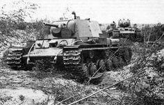 KV-1 Heavy Tanks near Leningrad. 1941