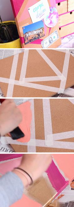 Geometric Cork Board | 18 DIY Tumblr Dorm Room Ideas for Girls that you will want to recreate!