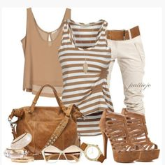 pants shirt bag outfit top clothes blouse shoes tank top stripes striped top gathered top walnut brown crop tops key hole back loose fit pur...