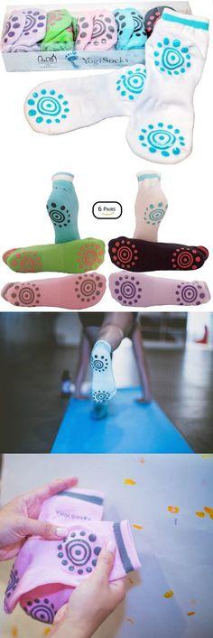 Socks 66078: Yogisocks Pack Of 6 Non Slip Skid Grip Yoga Socks Pilates Barre Bikram Hospital -> BUY IT NOW ONLY: $45.53 on eBay!