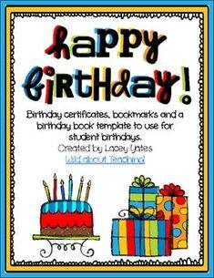 Happy Birthday!-Celebrating Birthdays in the Classroom