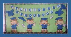 Graduación Graduation Theme, Preschool Graduation, Decoupage, Stage Decorations, End Of Year, 100 Days Of School, Kindergarten, Crafts For Kids, Classroom