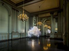 How This Artist Makes Perfect Clouds Indoors | Nimbus Green Room. | Credit: Berndnaut Smilde | From Wired.com