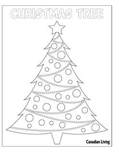 5 free holiday-themed colouring pages - #Christmas Tree #Kids #DIY #Crafts