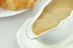 You can make chicken gravy with three ingredients. Butter, flour, and chicken broth with make you some chicken gravy. You don't need to buy chicken gravy in a can, or prepare it from a package, you can make chicken gravy from scratch. Vegetarian Gravy, Vegan Gravy, Vegetarian Recipes, Gluten Free Gravy, Gluten Free Recipes, Diabetic Recipes, Diabetic Foods, Primal Recipes, Easy Recipes