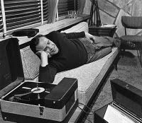 Marlon #Brando listening to records #vintage #vinyl #lp #record #album