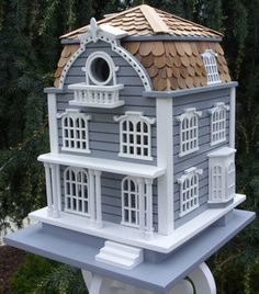 Decorative Birdhouses for $135.00 with Free Shipping! Elaborate detail make this historic replica birdhouse a perfect addition to any bird sanctuary .