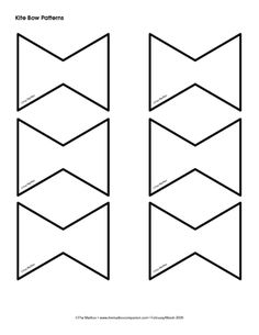 Kite bow pattern (for spring bulletin board) Kindergarten Crafts, Classroom Activities, Classroom Decor, Preschool Activities, Spring School, School Fun, Kite Template, Templates, Kite Tail