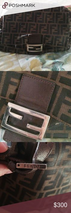 Authentic Fendi Zucca Bag Good Condition Fendi Bags Shoulder Bags