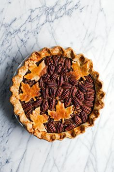 Bourbon Walnut Pecan Pie // Hungry Girl por Vida