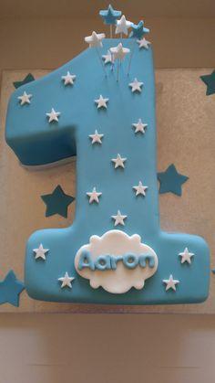 Number 1 birthday boy cake …