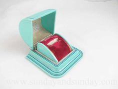 Vintage Art Deco aqua and hot pink celluloid by SundayandSunday