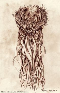 Claire Keane's concept art for Rapunzel's hair. So gorgeous, I would do this in real life