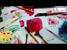 Aprende màs de 7 trazos utililes para pintar en Acuarela - YouTube