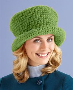 Make our Tip Top Topper hat in Wool-Ease Thick & Quick in Grass for a St. Patrick's Day hat! Free pattern here: http://lby.co/xlFIEs