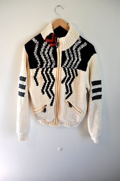 Vintage abstract sweater. 1980s/ 1990s/ by fashionneverfades on Etsy