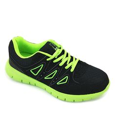 Black & Green Triangle Sneaker