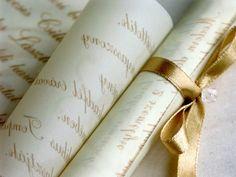invitation on tracing paper