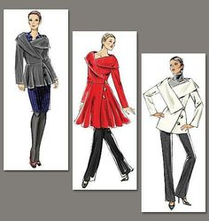Womens Vouge Lined Jacket AND Coat Sewing Pattern NEW Uncut V8465