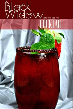 23 Movie Themed Cocktails That Are Awesome - Pretty Rad Lists Recipes The Power of Black Widow Plus an Enigmatic Black Widow Cocktail - Cool Moms Cool Tips Liquor Drinks, Cocktail Drinks, Fun Drinks, Yummy Drinks, Cocktail Tequila, Disney Drinks, Vodka Cocktails, Beverages, Black Widow