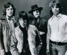 Pink Floyd - first photo of the band without Syd Barrett, 1968. Photo by Ray Stevenson.