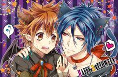 Mukuro x Tsuna Reborn Katekyo Hitman, Hitman Reborn, Anime Guys, Happy Halloween, Manga, Chrome, Ship, Couple, Anime Boys