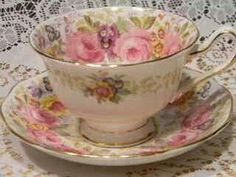 because my Mother always served my tea in such a cup . Vintage Cups, Shabby Vintage, Vintage Dishes, Vintage China, Shabby Chic, Vintage Party, China Cups And Saucers, Teapots And Cups, China Tea Cups