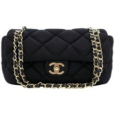 ffa23b697c33 Chanel Medium Jersey Quilted Flap Bag
