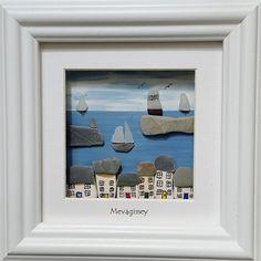 Mevagissey+Cornwall.+Pebble+Art+Pictures+por+CornishPebbleArt