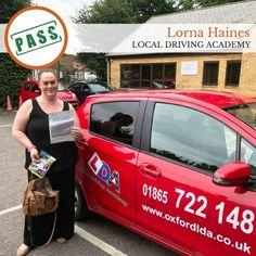 """Congratulations to Lorna Haines for passing her driving test at Local Driving Academy, Oxford. Please keep in mind, """"Your destination is reward for safe driving. Driving Academy, Driving Test, Congratulations, Oxford, News, Oxfords"""