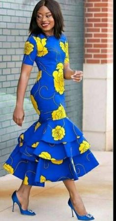 African Fashion Designers, African Fashion Ankara, Latest African Fashion Dresses, African Dresses For Women, African Print Dresses, African Print Fashion, Africa Fashion, African Attire, Ankara Dress Styles