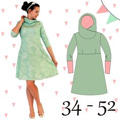 AnniNanni cuddly dress sweat dress hoody dress-AnniNanni Kuschelkleid Sweatkleid Hoodykleid AnniNanni cuddly dress Sweatkleid Hoodykleid – sewing instructions by Makerist - Baby Knitting Patterns, Sewing Patterns Free, Dress Patterns, Free Pattern, Sweat Dress, Hoodie Dress, Tee Dress, Sewing Dress, Sewing Clothes