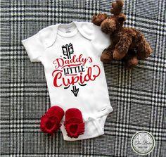 Valentine's Day Onesie, Baby Onesie, Daddy's little Cupid, Baby Shower Gift, 1st Valentine's Day, Baby girl, Baby boy, Toddler Shirt by TheBarnCustomDesigns on Etsy https://www.etsy.com/listing/567667636/valentines-day-onesie-baby-onesie-daddys