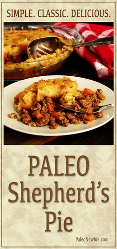Flavor-packed traditional dish made grain-free and dairy-free with ground beef, sweet potatoes and veggies. An easy paleo recipe the whole family will love! #paleo