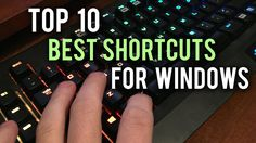 Save time and be more productive with our Top 10 Keyboard Shortcuts for Windows. Mac Edition: https://youtu.be/orl83v89iaY Here is a list of the shortcuts we...