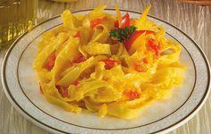 Tagliatelle al peperone giallo