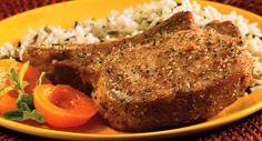 Garlic Pepper Pork Chops