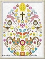 Alessandra Adelaide Needlework - Happy Easter (cross stitch pattern)