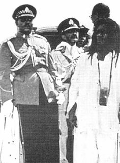 Mortimer Planno with Emperor Haile Selassie on his visit to Jamaica in 1966.
