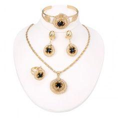Black Rhinestone Vintage Jewelry Sets