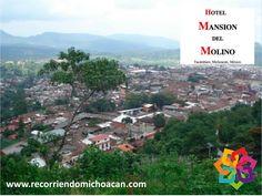 RECORRIENDO MICHOACÁN. Tacámbaro es un lugar que cuenta con calles empedradas y casas con techos de teja roja. La plaza central cuenta con viejos portales, que nos remontan a épocas coloniales; sus rincones y fuentes nos dibujan el marco perfecto para disfrutar de paisajes y hermosos atardeceres cobijados por un pueblo lleno de historias y cultura Hotel Mansión del Molino. http://mexonline.com/michoacan/mansiondelmolino-esp.htm