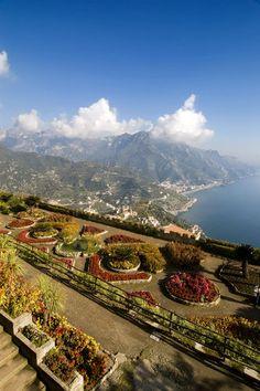 View of the Amalfi Coast from the Rufolo Garden.