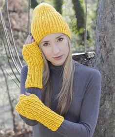 Golden Mitts & Hat hand knitting pattern #knitting #hat #knitwear #margeausoboti #mitts #fingerless #gloves #easy