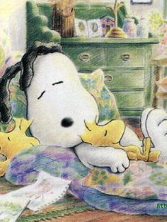 Snoopy and Woodstock How cute! I'm Woodstock - keep me warm! Snoopy Love, Snoopy E Woodstock, Charlie Brown Und Snoopy, Baby Snoopy, Cartoon Cartoon, Peanuts Cartoon, Cartoon Characters, Peanuts Characters, Cartoon Crazy